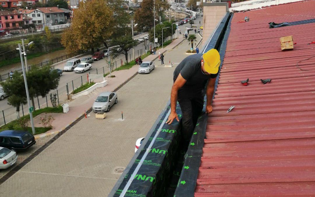 Zonguldak TCDD Devlet Demir Yolları İstasyonu Çatı Onarımı ve Oluk Sistemi Yenilemesi